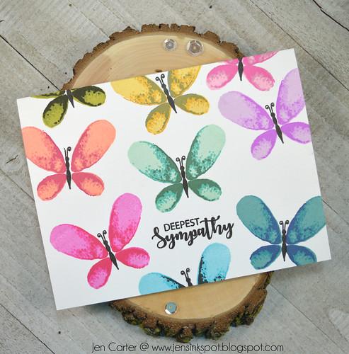 Jen Carter CP Rainbow Faithful Flutterings Sympathy 3