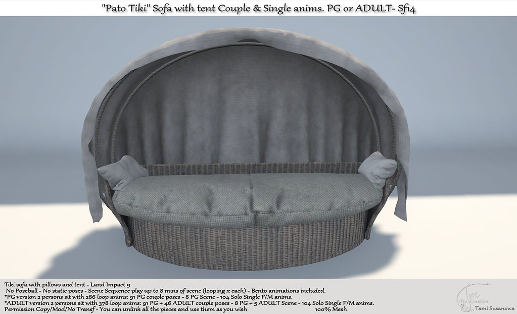 ".:Tm:.Creation ""Pato Tiki"" Sofa with tent Sf14"