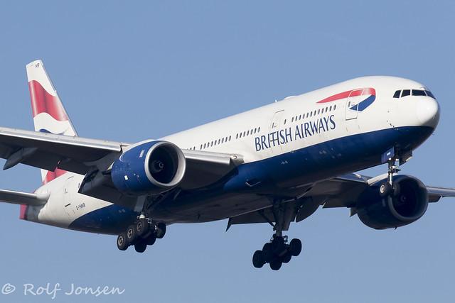G-YMMB Boeing 777-200ER British Airways Heathrow Airport EGLL 25.02-19