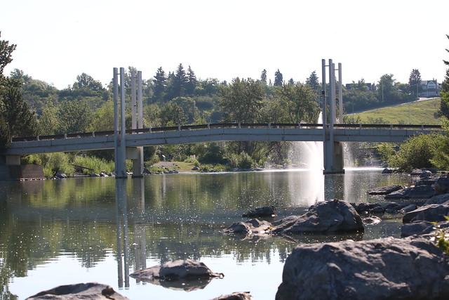 Princes island bridges Calgary