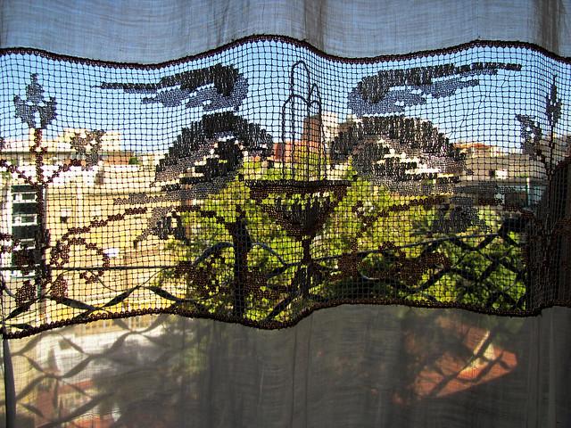 photo - Through the Window Curtain, La Pedrera, Barcelona