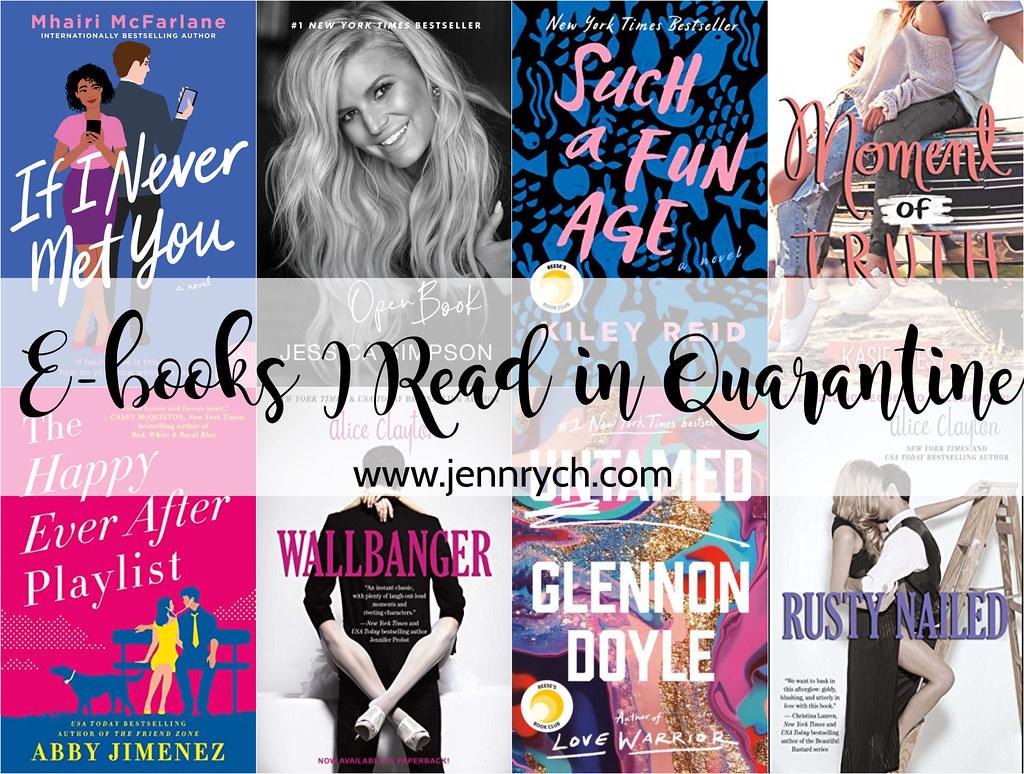 The E-books I've read so far in quarantine! | Jenn Rych, www.jennrych.com #ebooks