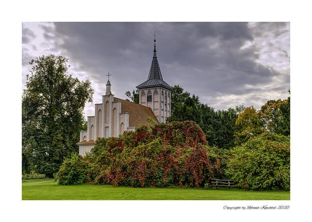 Dorfkirche Criewen ein Stadtteil von Schwedt an der Oder in Brandenburg.