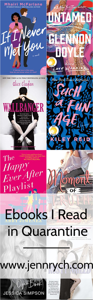 I checked out E-books through the Libby app during quarantine since my library closed. Here's what I read - a good mixture of new releases and backlist titles; check it out! | www.jennrych.com