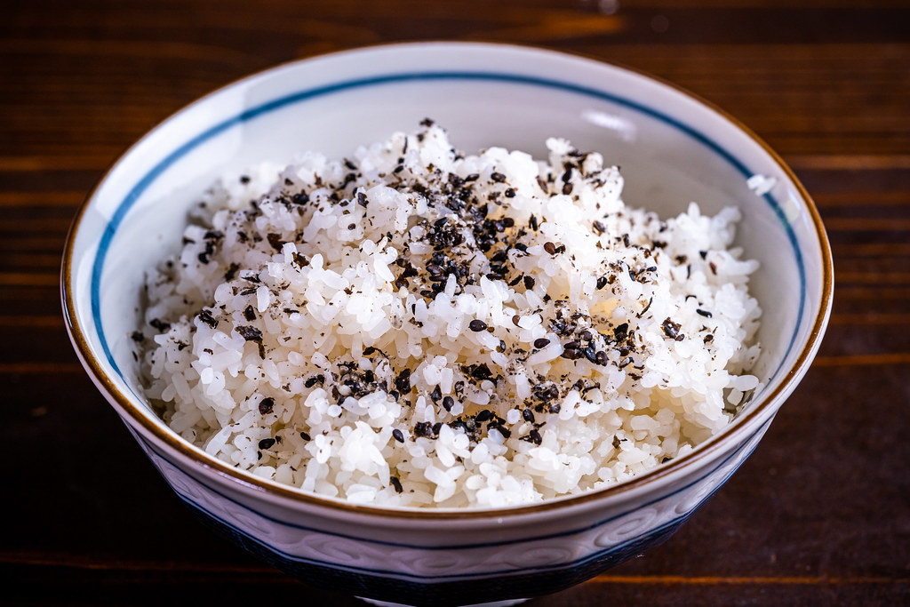 Furikake nori over rice