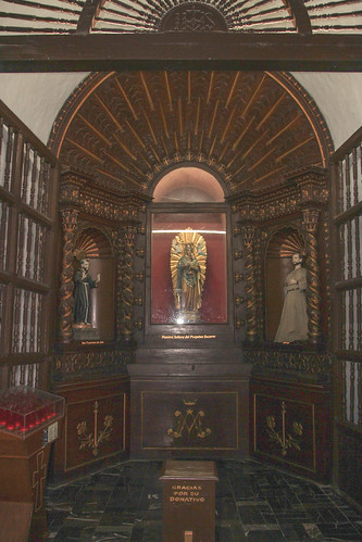 Alcove in San Servacio Church in Valladolid, Mexico