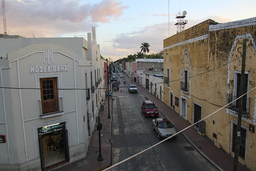 A street in Valladolid, Mexico