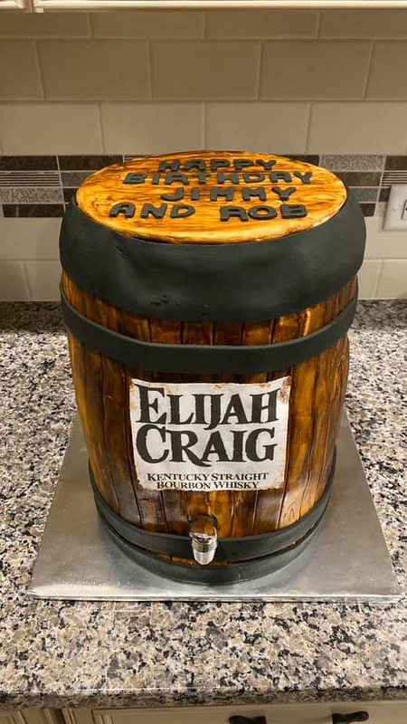 Bourban Barrel Cake by Meghan Taylor of I'll Cake That