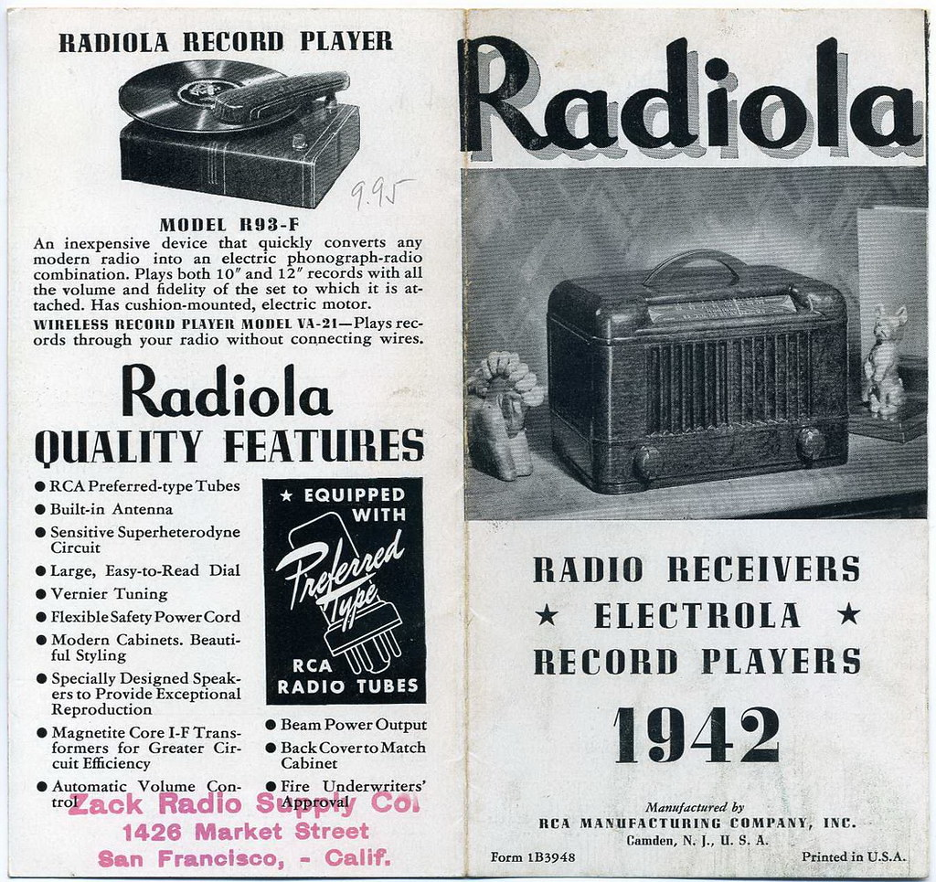 RCA, Radiola 1942