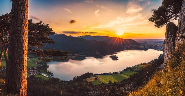 Sonnenuntergang über dem Schliersee
