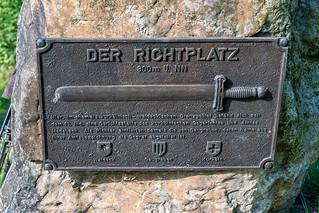 Bronzetafel am Richtplatz