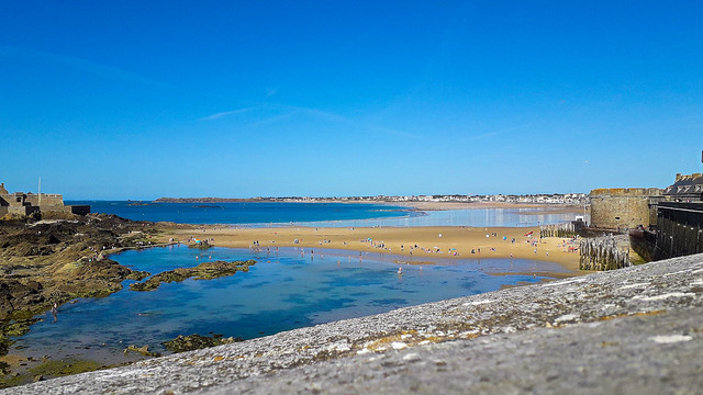 Saint-Malo, la plage.