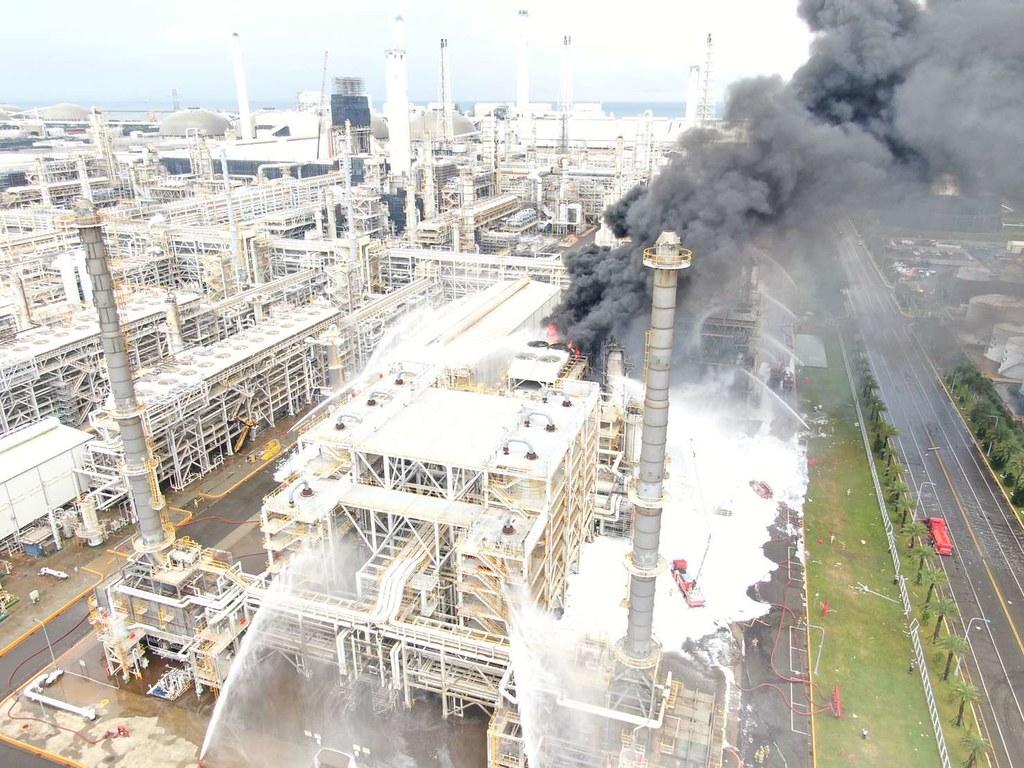 台塑六輕廠區15日又發生工安事故。圖片提供:雲林縣政府。