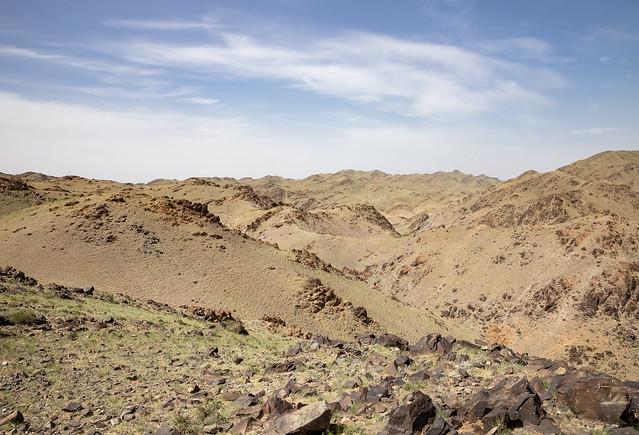 View at the Khavtsgait Petroglyphs