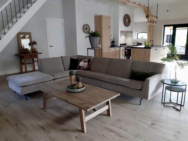 Hoekbank landelijke woonkamer