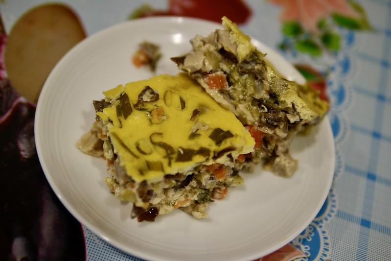 香菇花椰菜時蔬蒸蛋