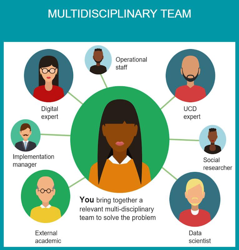 Diagram of multidisciplinary digital team