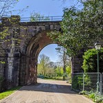 Railway bridge linking Avenham and Miller Parks,