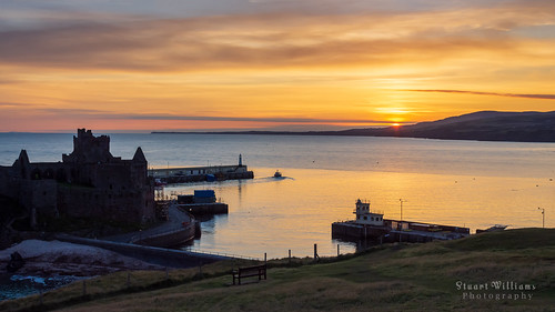 peel isleofman castle sunrise coast sea dawn landscape