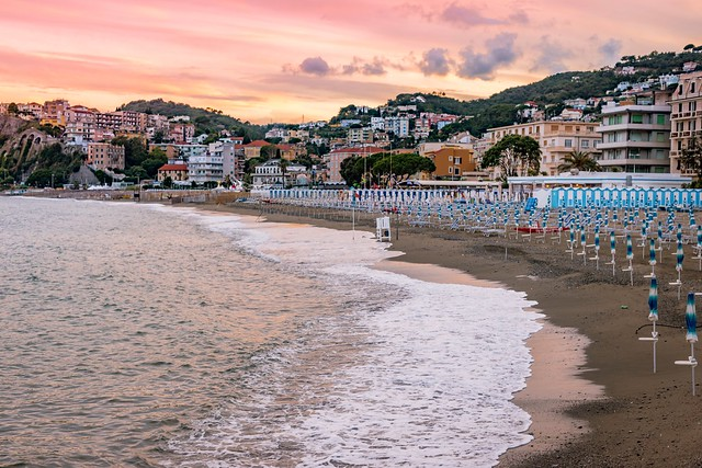 Sunset. My hometown, Albissola, Riviera Ligure