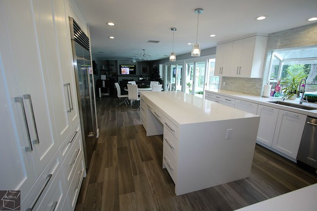 Master Bedroom Room Addition, #KitchenRemodel #Apluscabinets #woodflooring in #VillaPark https://www.aplushomeimprovements.com/portfolio_page/master-bedroom-room-addition-and-custom-design-build-modern-kitchen-home-remodel-in-villa-park-orange-county114/
