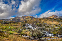 Mountain Footbridge Wales