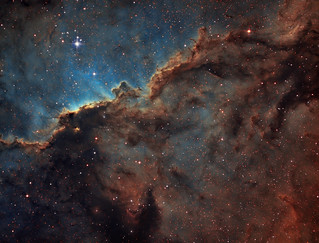 NGC 6188 - The Fighting Dragons of Ara in Hubble Palette (SHO)