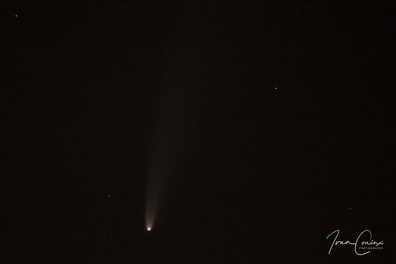 Comet C/2020 F3 (NEOWISE) – Hombeek – 2020 07 11 – 01 – Copyright © 2020 Ivan Coninx