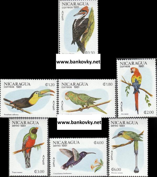 Známky Nikaragua 1981 Vtáci
