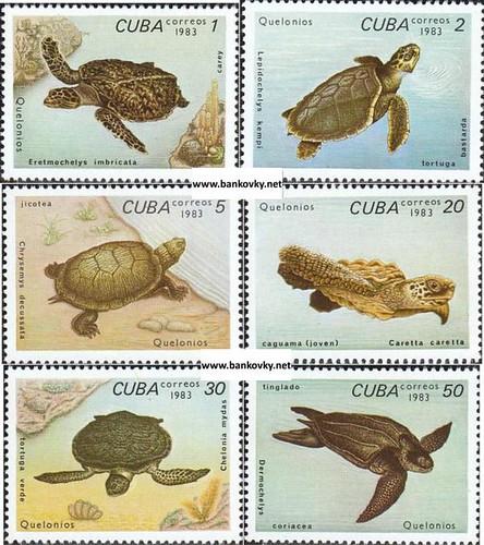 Známky Kuba 1983 Vodné korytnačky séria MNH