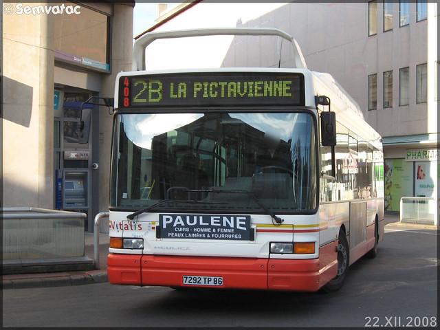 Heuliez Bus GX 317 GNV – RTP (Régie des Transports Poitevins) / Vitalis n°408