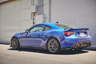 "Chris's World Rally Blue Subaru BRZ PP on 17"" EC-7R Forged Wheels in Anthracite 