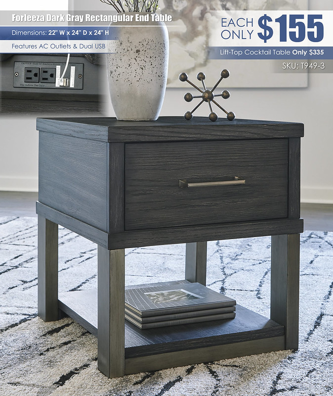 Forleeza Rectangular End Table_T949-3