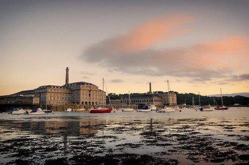 royal william yard pink yachts cremyll clouds long exposure sunset evening dusk architecture tamar river plymouth devon uk england wide angle d7000 nikon sigma 1020 landscape coast