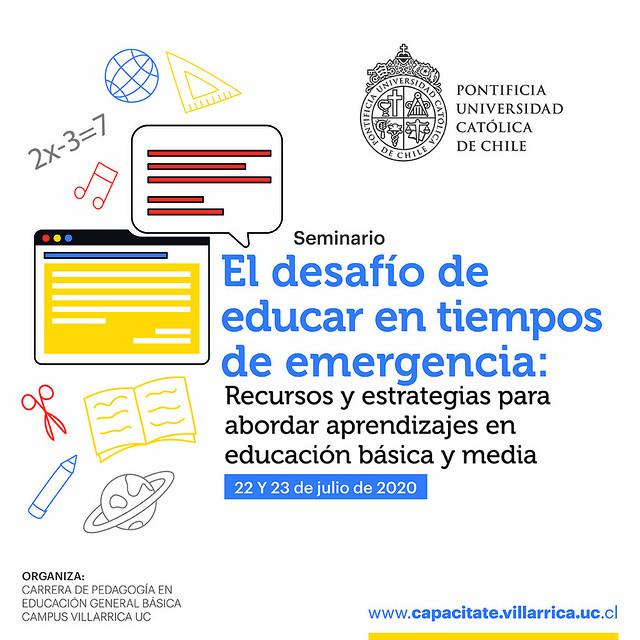 """Seminario """"El desafío de educar en tiempos de emergencia"""""""