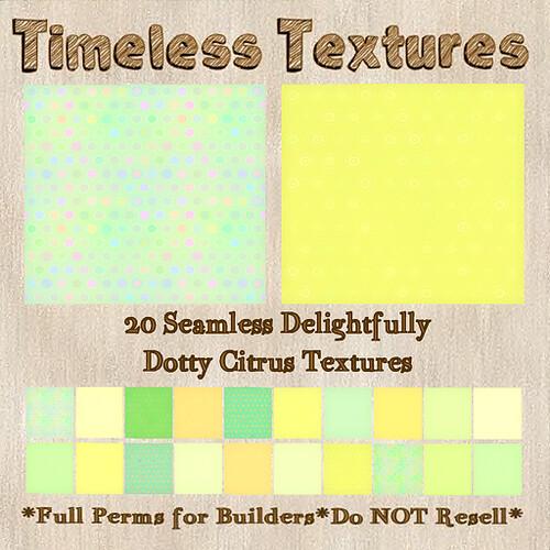 TT 20 Seamless Delightfully Dotty Citrus Timeless Textures