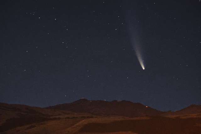 Comet C/2020 F3 NEOWISE over Mt. Hamilton [Explore 2020-07-17 #19]