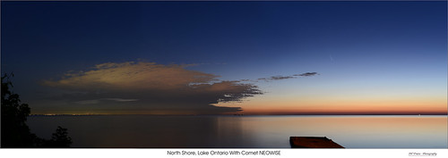 grimsby pumphouse pier lakeontario shore toronto lake water sky dawn night comet tail newowise stars orange blue opensource rawtherapee gimp nikon d800 aafnikkor50mm118d
