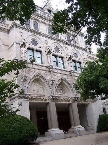 connecticut state capitol hartford ct nrhp historic us national landmark architecture eastlake style gothic architect richard m upjohn bushnell park historical tours attraction dome exterior building onasill downtown window view hartfordcounty statue