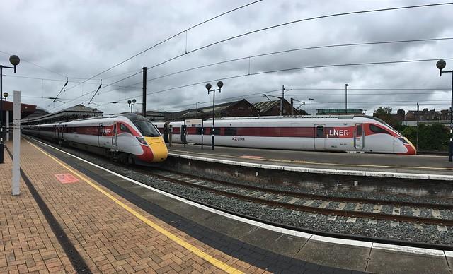 LNER Azuma's at York Railway Station