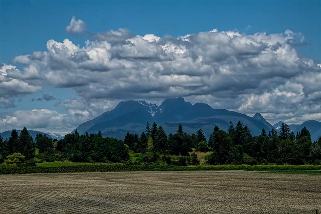Golden Ears from Fort Langley
