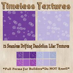 TT 12 Seamless Drifting Dandelion Lilac Timeless Textures