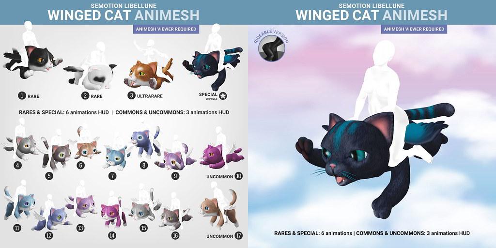 SEmotion Libellune Winged Cat Animesh