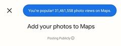 31 million views on Google Maps