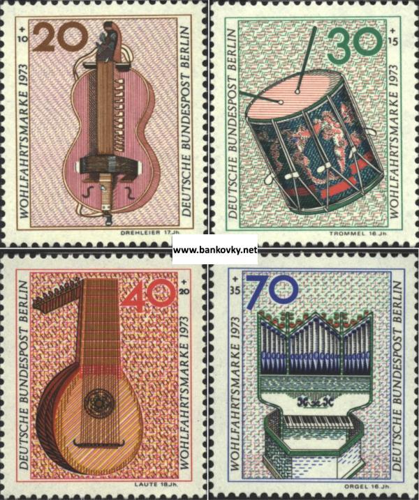 Známky Západný Berlín 1973 Hudobné nástroje MNH