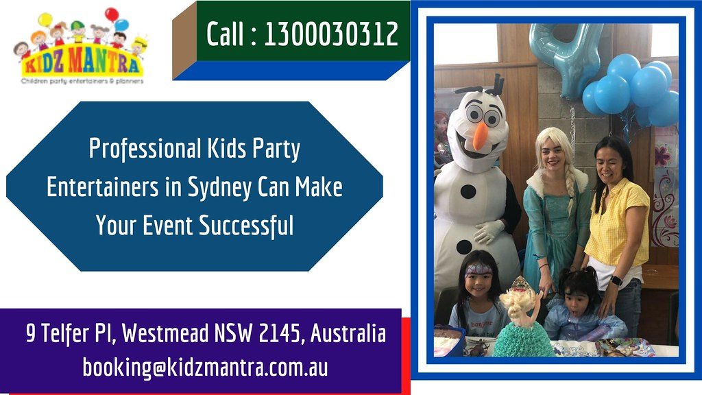 Professional Kids Party Entertainers in Sydney Can Make Your Event Successful