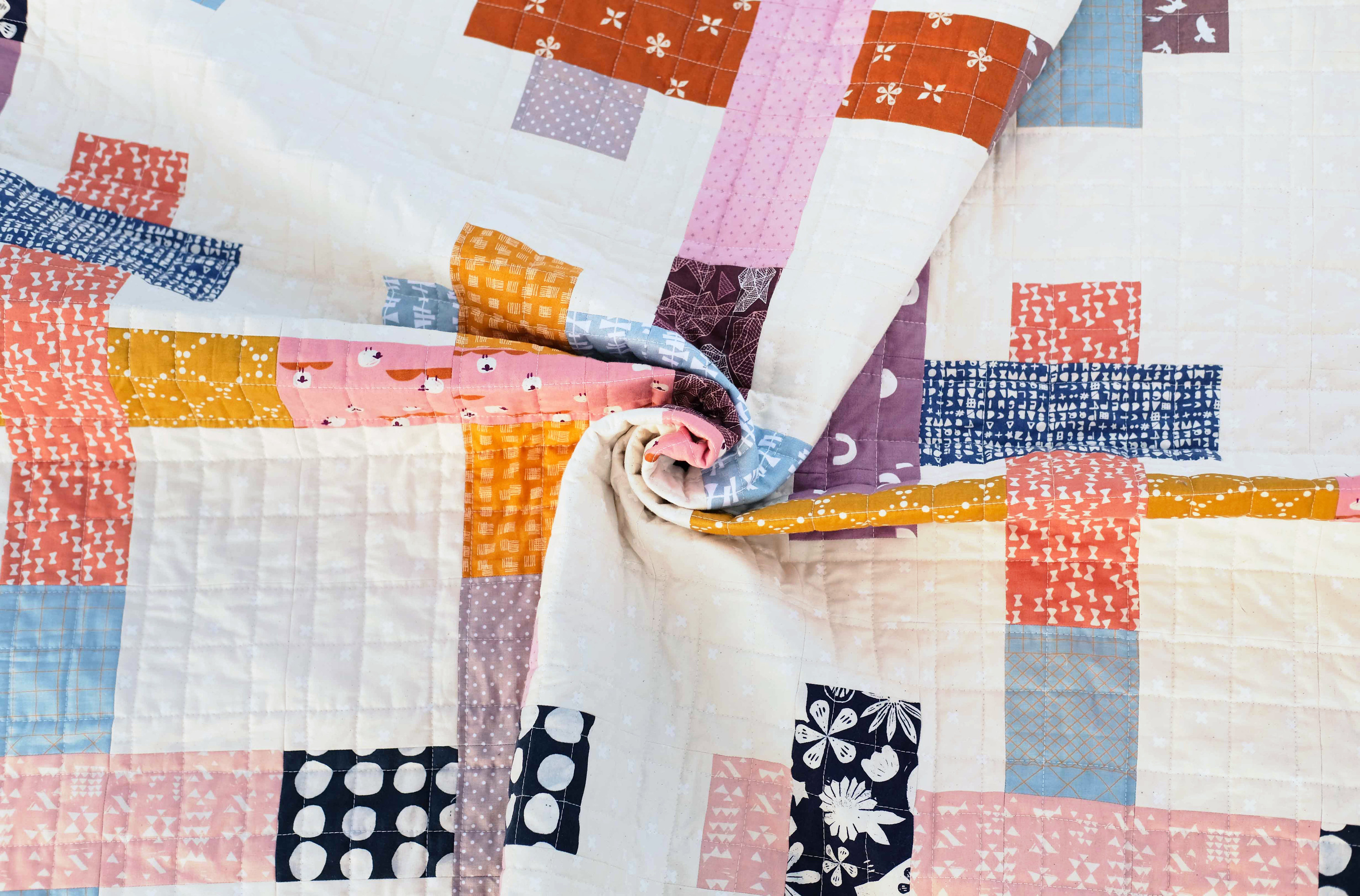 An Ella Quilt from the Stash - Kitchen Table Quilting