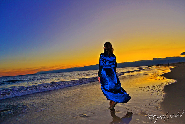Beautiful Sunset on Coney Island Beach Brooklyn New York City NY P00590 DSC_3219