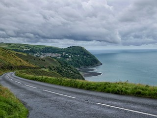 Descent to Lynmouth in Devon. | by Peter Gostelow