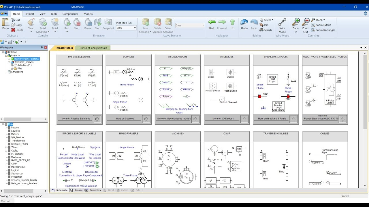 Working with PSCAD 4.5 full license